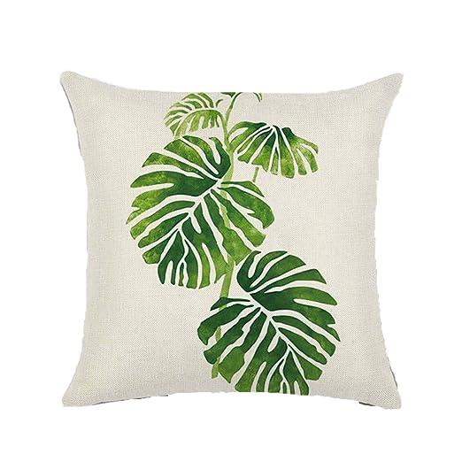 YY Club ASAP Chic Fundas de Cojines de Hoja Verde Fundas de Almohada de algodón Decorativo Funda de cojín al Aire Libre Cuadrado Sofá Fundas de ...