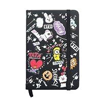 Fanmuran Cuaderno de patrones diario KPOP BTS BT21 GOT7 Wanna One Un libro de escritura de estudio cartapacio de estudiante escuela Kpop coreano libreta mamotreto escuela (2#)