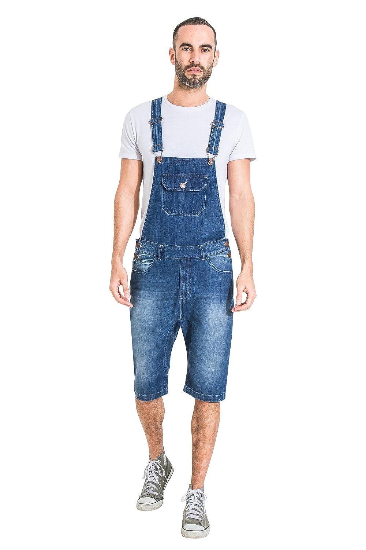 6b76894e1c USKEES Mens Denim Bib Overall Shorts Fashion Dungaree Shorts at Amazon  Men's Clothing store: