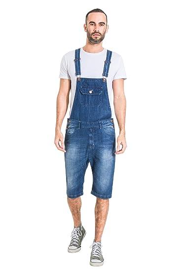 7705676b51a Uskees Mens Denim Dungaree Shorts Bib Overall Shorts JESSESHORTDENIM   Amazon.co.uk  Clothing