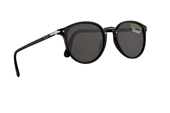 4dfc0b4a1ec6 Image Unavailable. Image not available for. Color: Persol PO3210S Sunglasses  Black w/Polarized Green Lens ...
