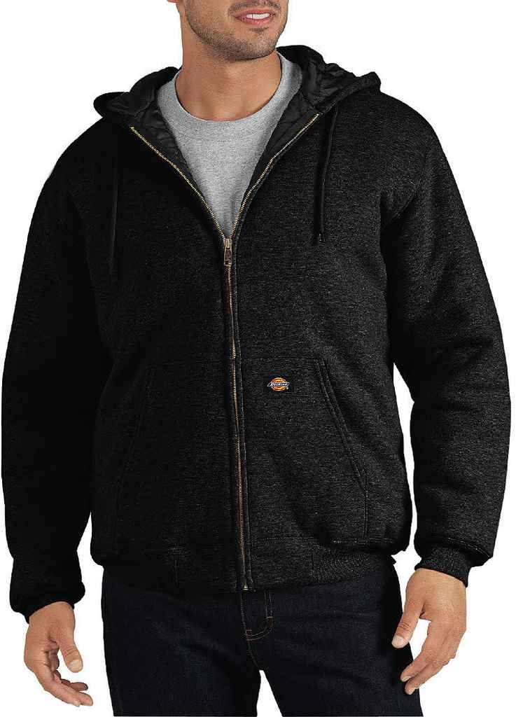 dickies Men's Big Heavyweight Quilted Fleece, Black, 2X-Large Tall by dickies