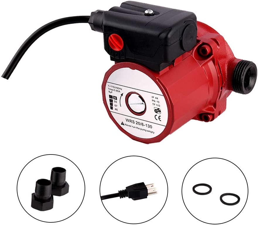SHYLIYU Pressure Booster Pumps 115V 3-Speed Cast Iron Booster Pump 1 inch Outlet 46/67/93W Circulator Pump for Home
