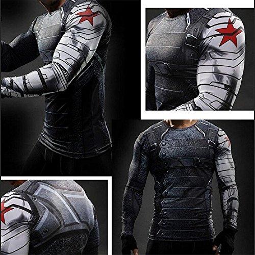 Abbigliamento Cosplay uomo Herren T-Shirt grau grau XXXXL