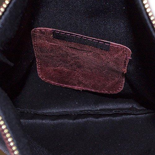 Lavado Claro Lacado Grabado Piel De Auténtica La Cm Piedra En Cartera Y Oscuro A Firenze Mujer Rojo Granate Artegiani 27 Efecto CRq6fwz