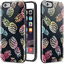 VeaYook Tough Case for iPhone 6 iPhone 6s Case Dual Layer Protection Case High Impact Slim Hard Case with Soft Tpu Interior Absorbing Inked Case (Glittery Pineapple)