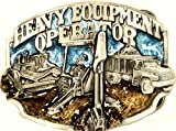 "HEAVY EQUIPMENT OPERATOR ""WE CAN DIG IT"" PEWTER BELT BUCKLE MADE IN USA"