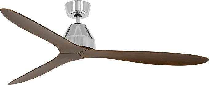 Lucci Air Whitehaven - Ventilador de techo con mando a distancia, ABS, 35 W, cromo/oscuro, 142 cm de diámetro: Amazon.es: Iluminación