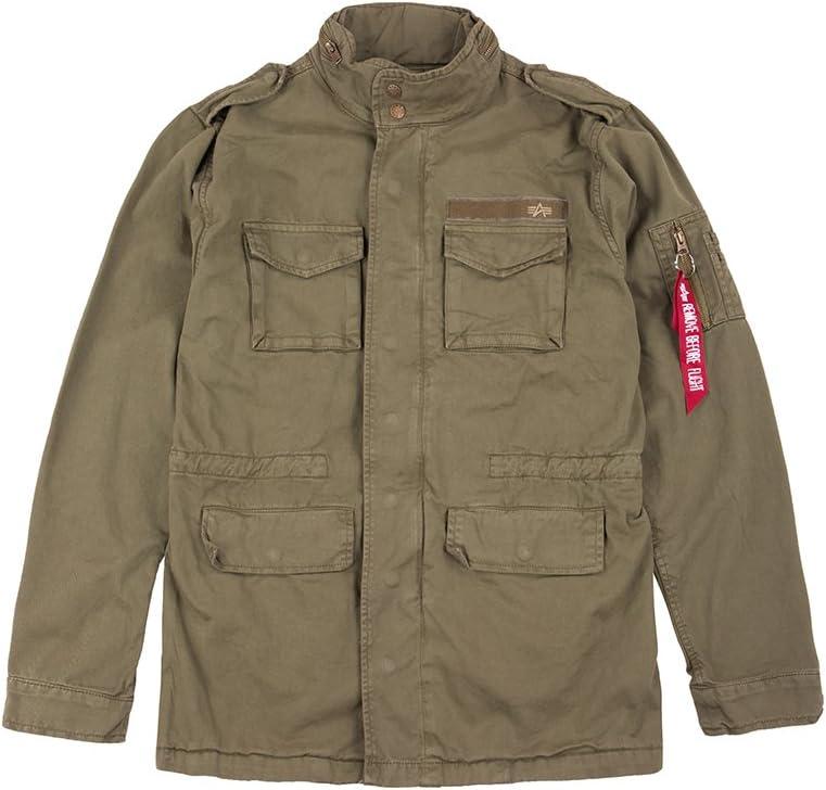 Farbe:Olive Alpha Industries Men Jacket Huntington Gr/ö/ße:XS