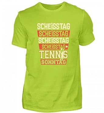 Hochwertiges Herren Premiumshirt Scheisstag Tennis Sonntag