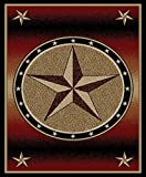Cheap Dean Amarillo Rust Lodge Cabin Ranch Western Star Area Rug 5'3″ x 7'3″