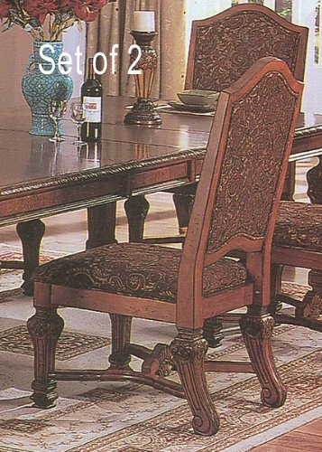 (Set of 2 Traditional European Style Formal Dining Side Chairs)
