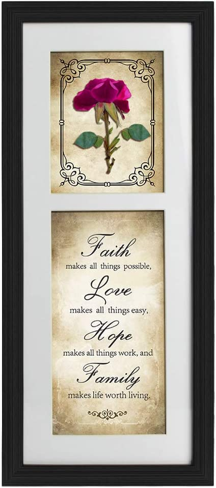 HAVE HOPE... STUNNING FRAMED LIFE INSPIRATIONAL QUOTE POSTER PRINT