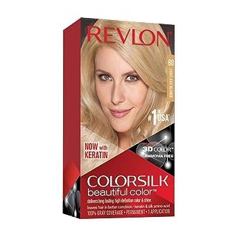 Revlon ColorSilk Tinte de Cabello Permanente Tono #80 Rubio ...