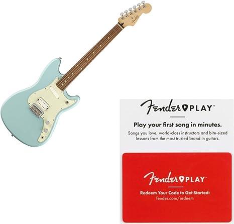 Fender Duo Sonic HS Pau Ferro Daphne Guitarra eléctrica azul con ...