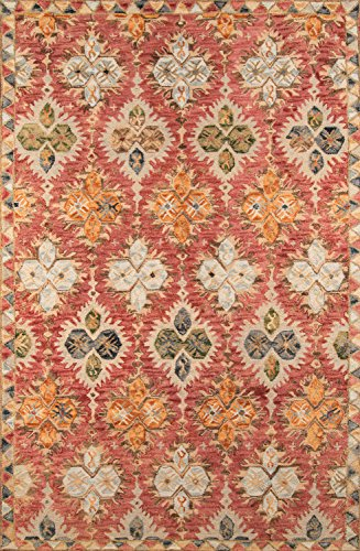Momeni Rugs TANGITAN17RED5080 Tangier Collection Area Rug, 5'0