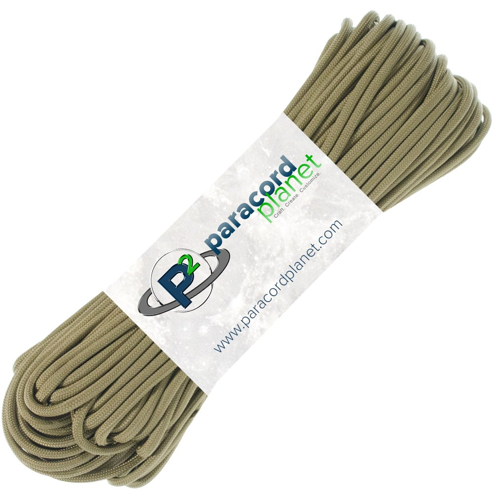 Paracord Planet 850 US Government Certified Paracord - Many Colors Available - 10', 25', 50', 100', 250', 1000' Lengths