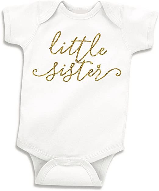 It/'s a Girl Little Sister Newborn Gown Baby Announcement Gender Reveal Newborn Outfit Baby Gift Baby Shower Gift Take Home Outfit