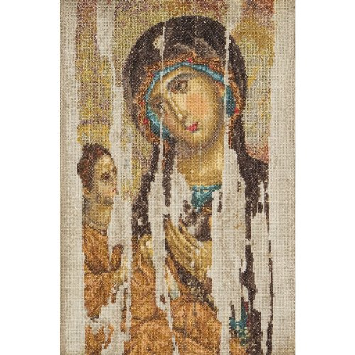 Thea Gouverneur 18 Count Counted Cross Stitch Kit, 8-3/4 by 13-1/4-Inch, Icon Mother of God on ()