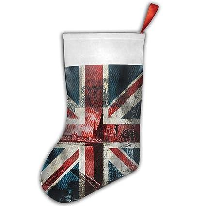 DingLing Jeans patrón de bandera británica personalizada para fiestas de Navidad regalos calcetines calcetín de Papá