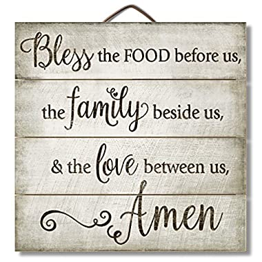 Highland Graphics 12  Inspirational Sign  Bless the Food Before Us...  Family Wall Decor