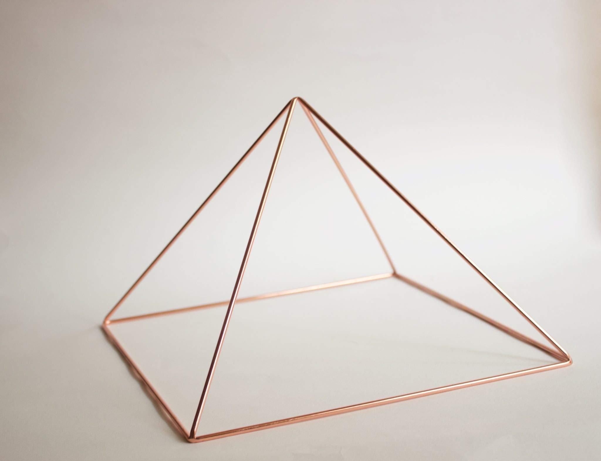 12 inch Copper Tabletop Pyramid Giza Style