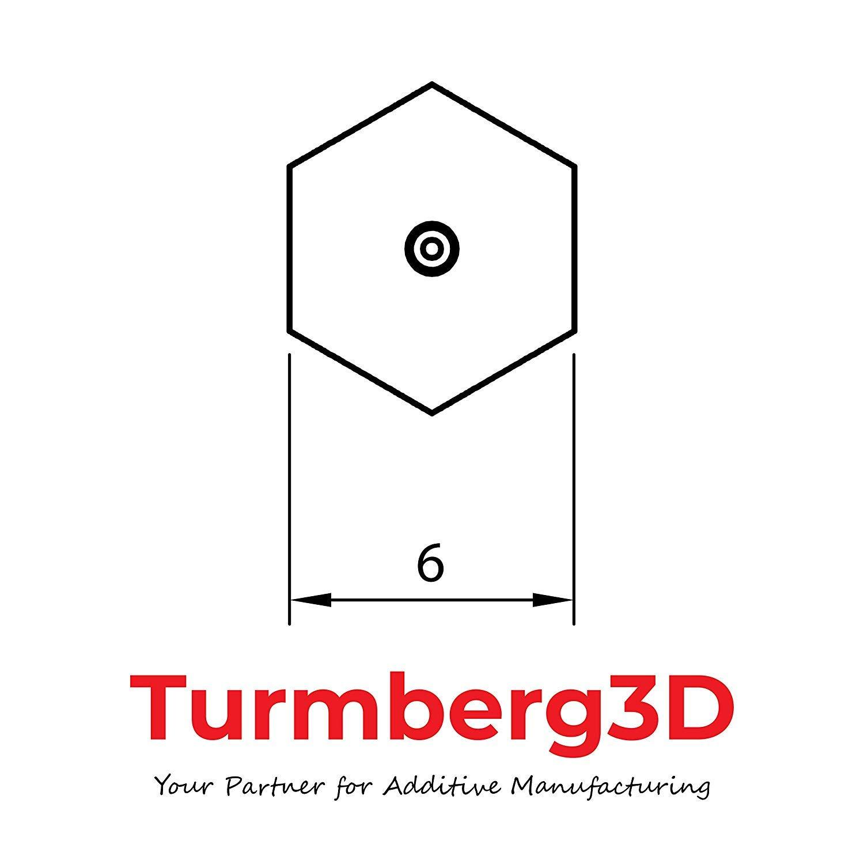 2 x 0.4 mm /per 1.75/mm 5 Hotend Ugello in ottone per stampante 3d ANET A6 0.2 mm /MK8/Nozzle Set 5Stk/ CTC A8 CR 10 Set Torre berg3d/ 0.5 mm