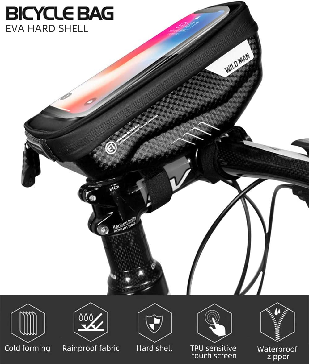 Rehomy Waterproof Bike Handlebar Bag Bicycle Phone Case Touchscreen Cycling Riding Pouch