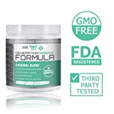 Generation Greens Powder   Organic Superfood Powder with 60 Powerful Ingredients   Chlorella, Spirulina, Wheat Grass and CoQ10 Included   30 Servings, Orange