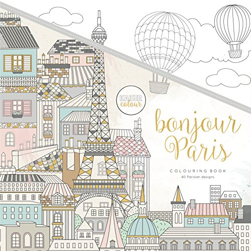 KaiserColour Perfect Bound Coloring Book - Bonjour Paris