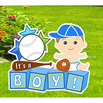 amazon com it s a boy yard stork announcement sign welcome