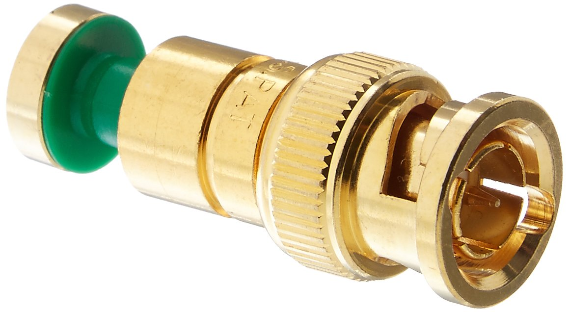 Platinum Tools 18235    BNC RGB Compression 24AWG, Gold Plated, 25-Pack