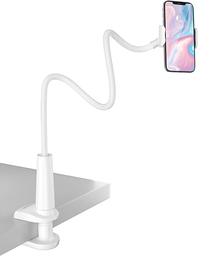 Tryone Gooseneck Phone Holder, Flexible Long Arm Mount Stand Compatible with Smartphones