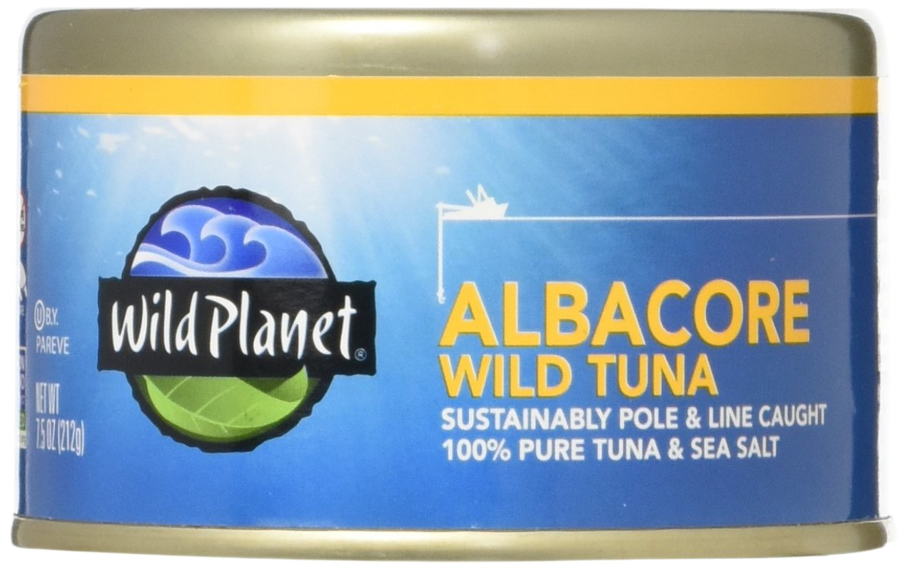 Wild Planet, Wild Albacore Tuna, 7.5 Ounce (Pack of 12) by Wild Planet
