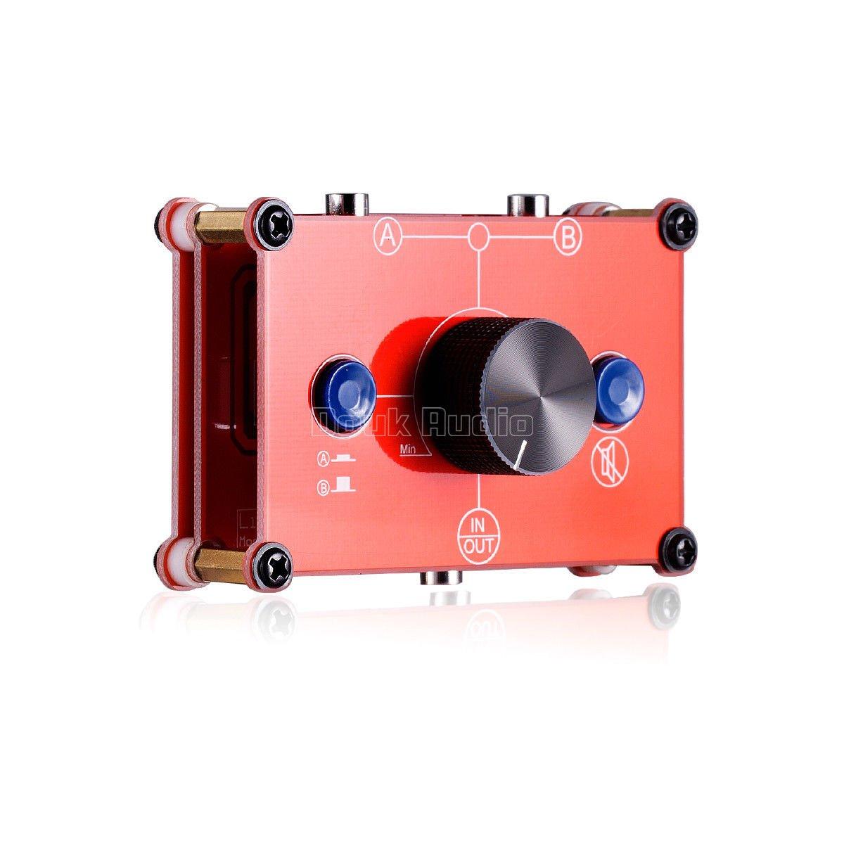 Nobsound Little Bear MC1022 Mini 2(1)-IN-1(2)-OUT RCA Stereo Audio Switcher Passive Selector Splitter Box (Black (RCA Version)) GFJ572
