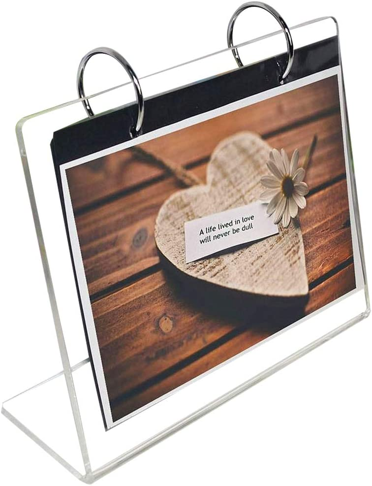 "Clear Slant Back Acrylic Sign Holder,Frames Desktop Display Holder""L"" Type with Vertical Stand Menu Holders,Photo Clip 13 Shows 26 Photos Photography Studio/Album Horizontal 4x6"""