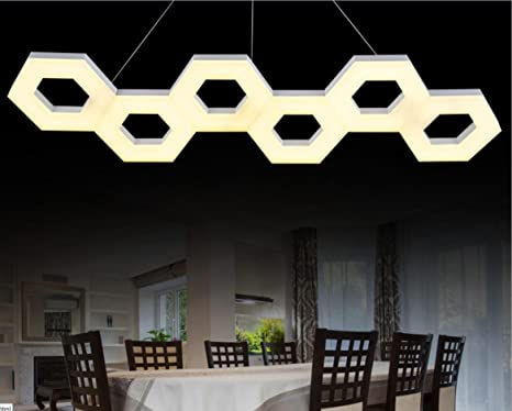 Illuminazione Soggiorno Pranzo : Led linea lampada camera soggiorno sala da pranzo lampadario