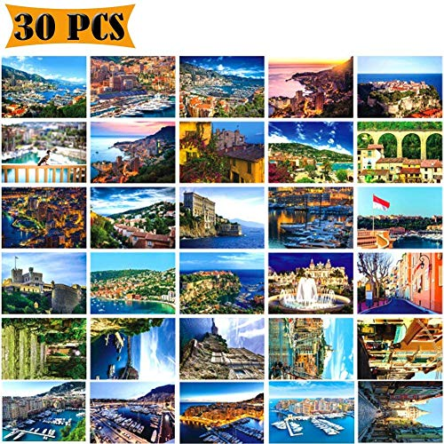 Postcards Mediterranean View Theme Self Mailer Mailing Side Travel 30 Different Designs Greeting Thanksgiving TravelingCards Postcards