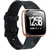 Tkasing Compatible with Fitbit Versa 2/Versa/Versa Lite/Special Edition Bands,Breathable Soft Silicone Strap Replacement…