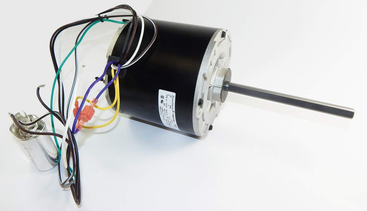 1/4 hp 825 RPM 48 Frame 208-230V 5 5/8'' Diameter Condenser Motor # EM3404