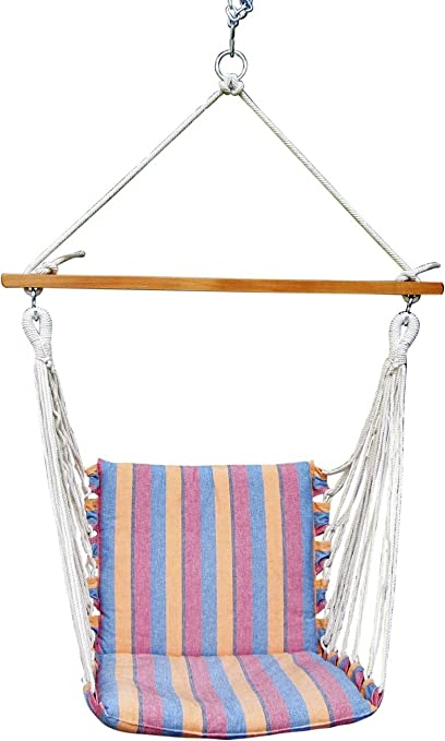 Oak N Oak Comfortable & Relaxing Indoor & Outdoor Hanging Chair Furniture/Hanging Hammock Chair Swing/Hanging Rope Swing Chair/Garden Hanging Chairs/Patio Swing Seat for Backyard, Bed Room, Porch, Beach - Magnolia Casual Maine