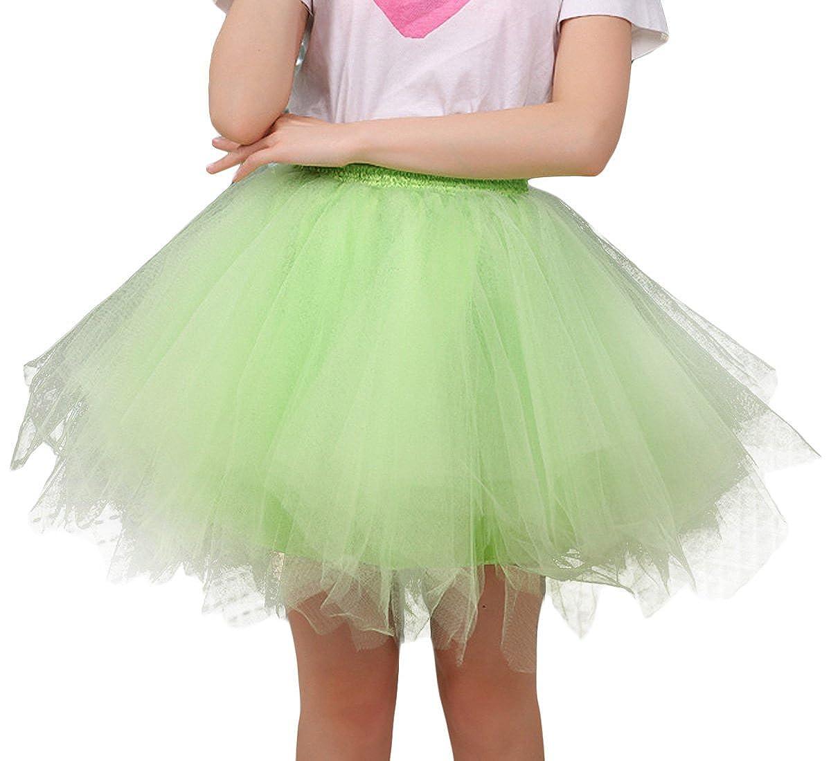 50c6afd34a FEOYA Mujer Adultos Falda de Ballet Skirt Princesas Tutú de Tul para Baile  Disfraces Fotografía Fiesta Despedida de Soltera Talla Única 19 Colores a  Elegir