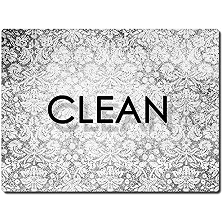 Clean Dirty Reversible Flexible Flip 3x4 inch Big size Flipside Black and White Simple Cube Design Perfect Kitchen Addition Premium Flip Sign Indicator KIWE HOME Double Sided Dishwasher Magnet
