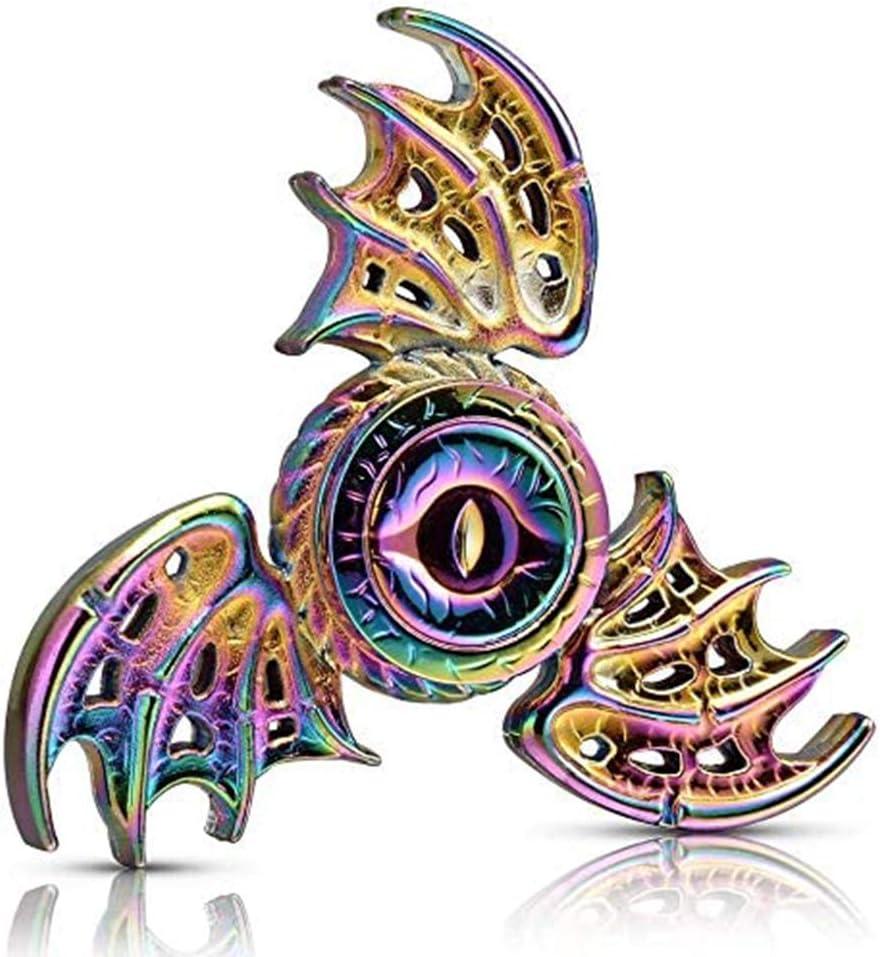 BST&BAO Spinner de Mano antiestrés con alas de dragón, Enfoque metálico, Acero Inoxidable, yema del Dedo, giroscopio, Alivio del estrés, Espiral, TDAH, EDC, Juguete para Fiestas, Regalo de cumplea