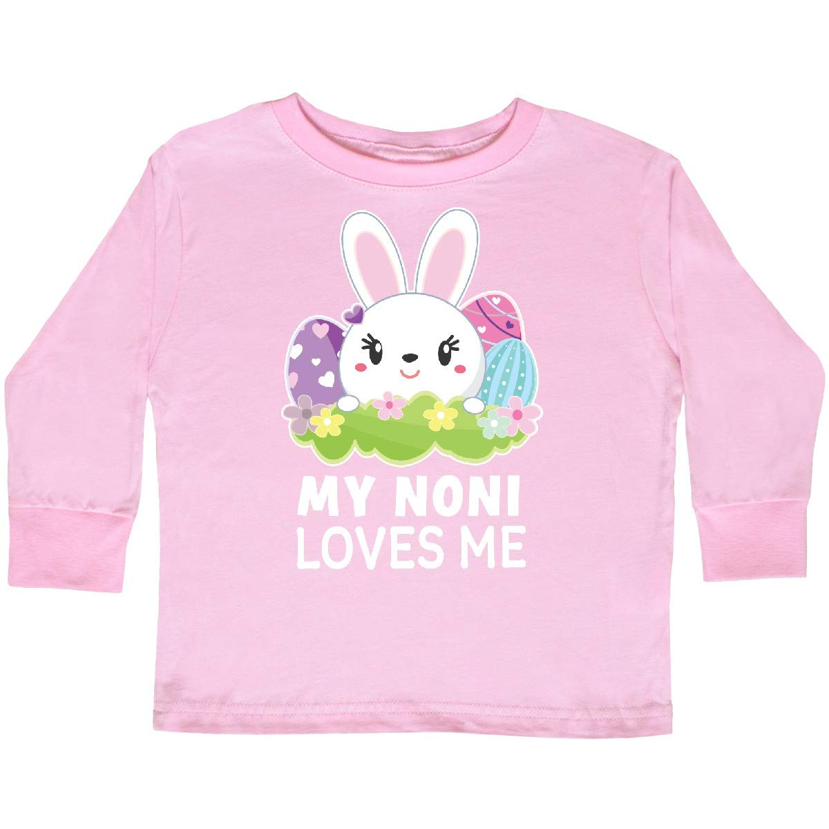 inktastic My Noni Loves Me with Bunny and Easter Toddler Long Sleeve T-Shirt