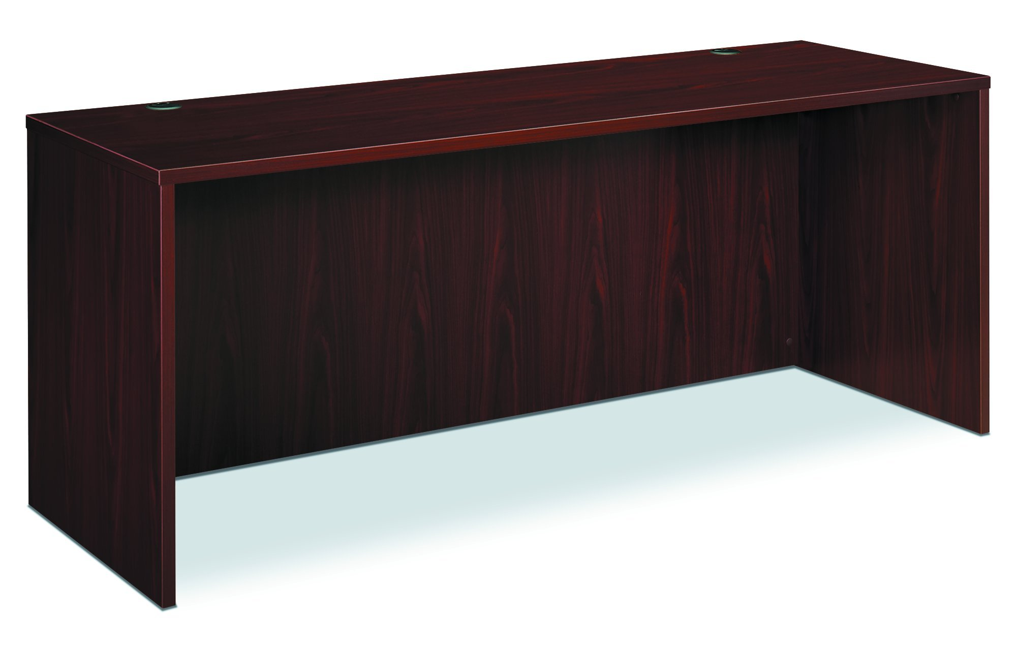 basyx by HON BL Laminate Series Office Desk Shell - Bow Front Top Desk Shell, 72w x 42d x 29h, Mahogany (HBL2111)