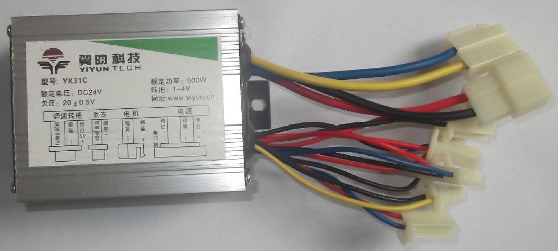 brush dc motor controller wiring diagram amazon com l faster 24v36v48v 500w electric motor controller for  l faster 24v36v48v 500w electric motor