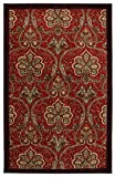 Mohawk Home New Wave Red Barossa Printed Area Rug, 5'x7′, Red For Sale