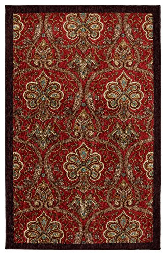 Mohawk Home New Wave Red Barossa Red Rug  5X7