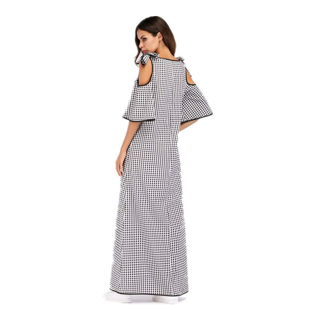 Yhjklm Elegante Musulmana Femenina Falda Larga étnico Viento Bordado Collage Vestido de túnica de Las Mujeres cómodo (tamaño : XL): Amazon.es: Hogar